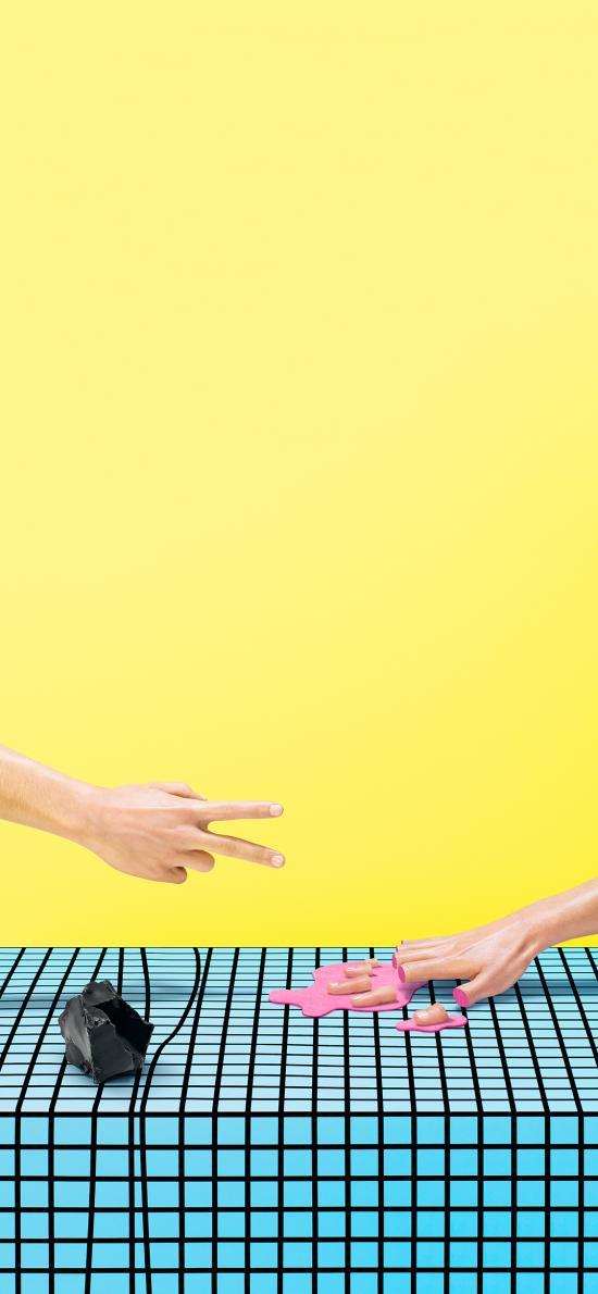 创意摄影 剪刀手 断指