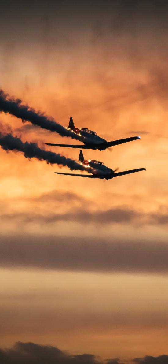 战斗机 飞机 飞行 烟雾 航空