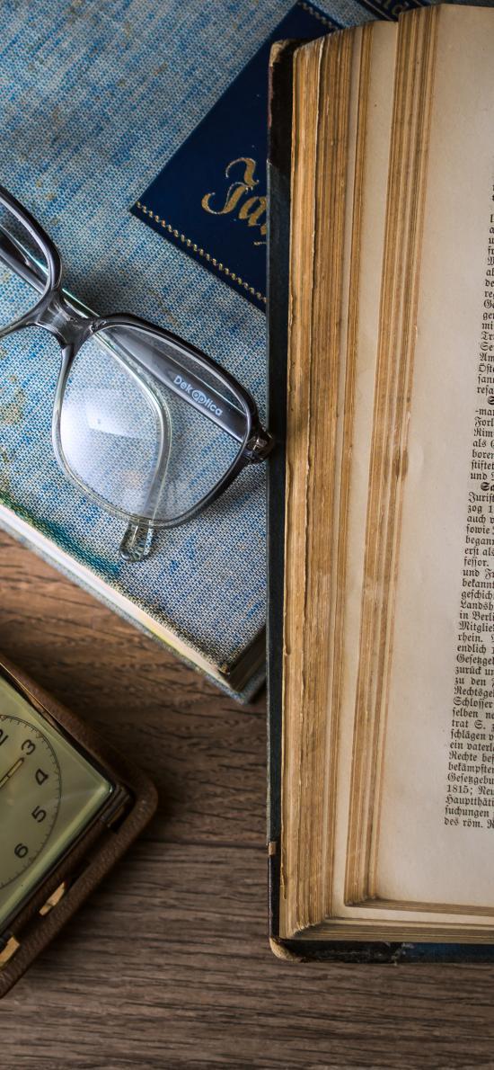 阅读 静物 书籍 眼镜