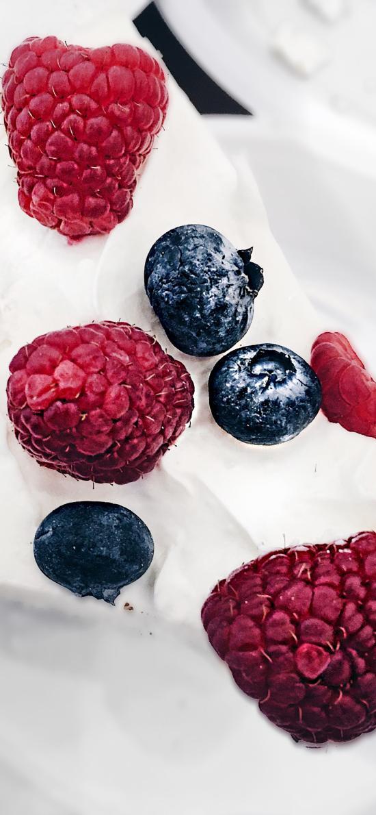 甜品 点心  蓝莓 桑葚