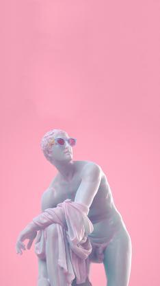 雕塑 墨镜 粉色 艺术
