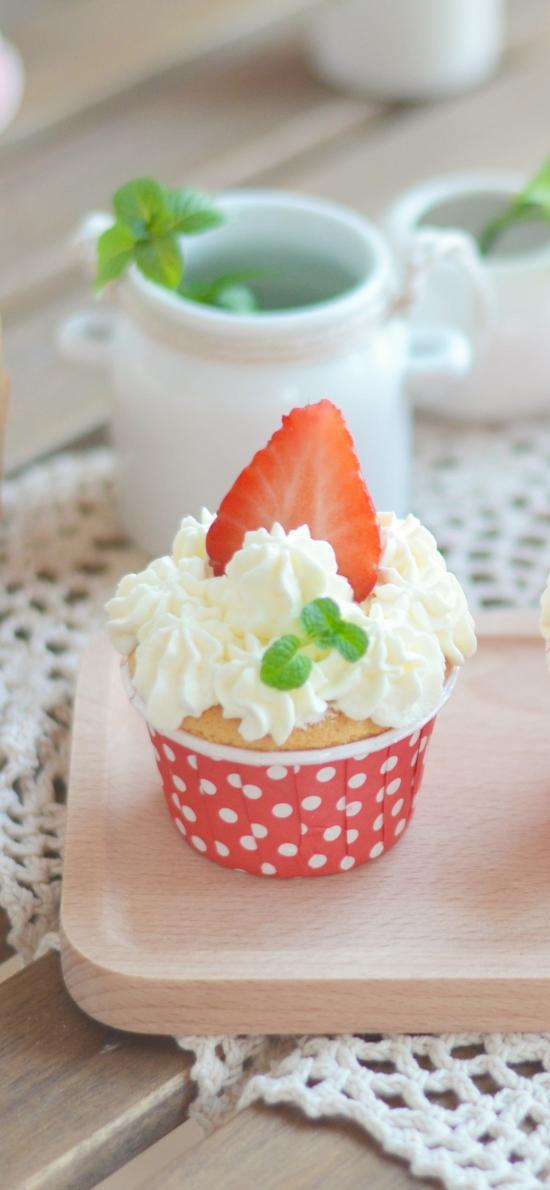 纸杯蛋糕 粉 小清新 点心 草莓