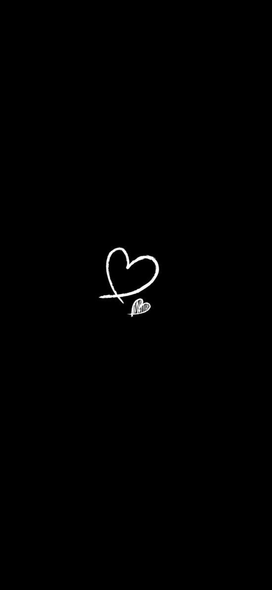 爱心 黑白 心形 爱情
