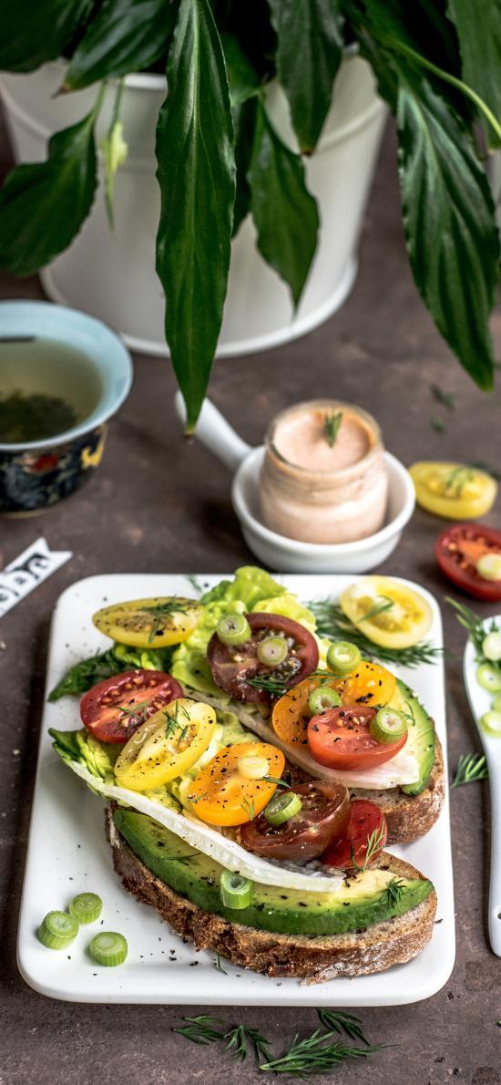 餐点 面包 水果 牛油果 营养 健康