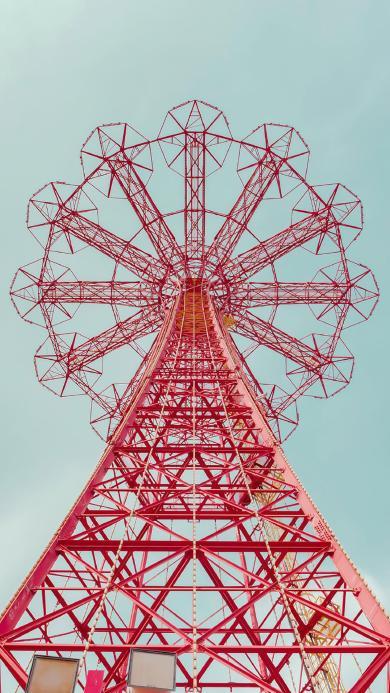 铁架 摩天轮 钢筋建筑