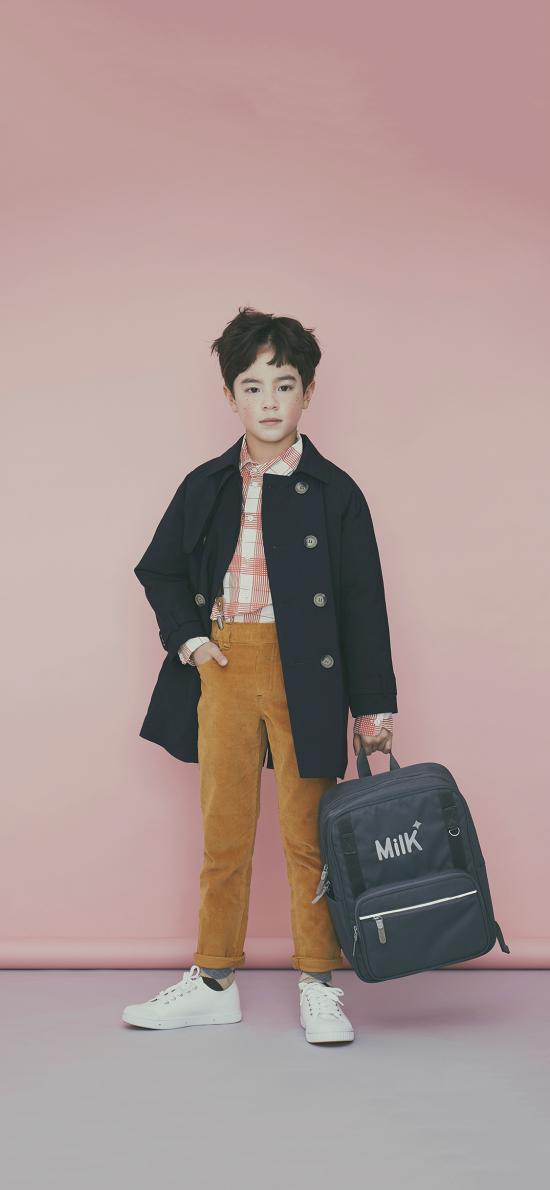 小男孩 时尚 书包 儿童 时尚