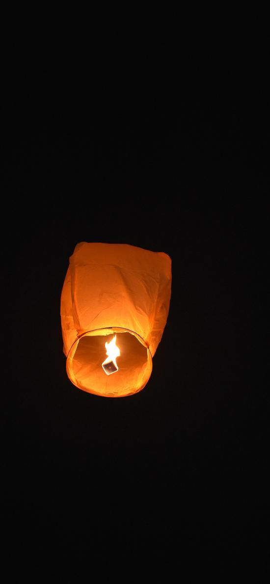 孔明灯 庆祝 祈祷 夜晚