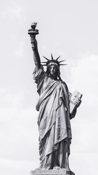 自由女神 雕像 天空 美国