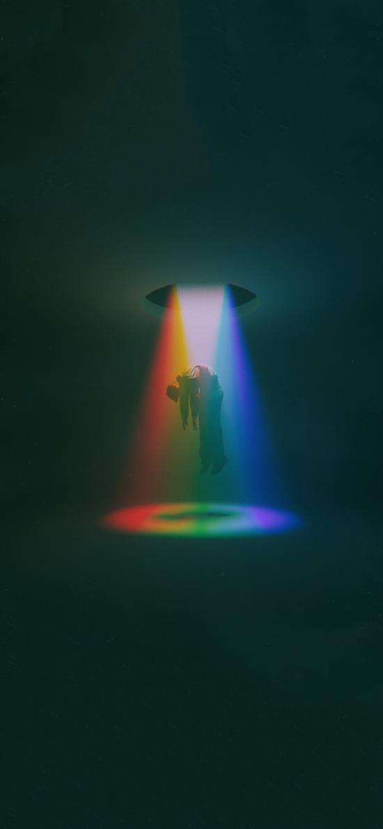 创意 彩虹 人物 召回 特效
