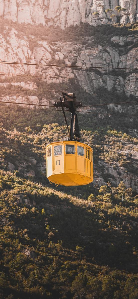 自然风景 观光缆车 黄色