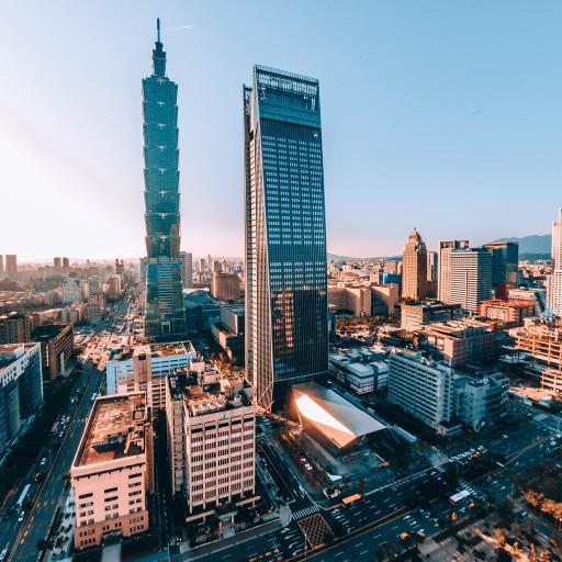 风景 台湾101 建筑 城市 街道 日出