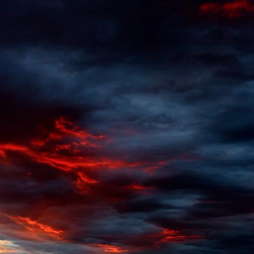 天空 乌云 火烧云 自然美景