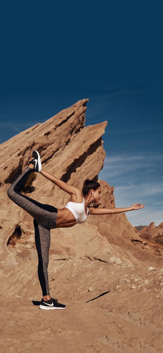 瑜伽 运动 户外 动作 健身