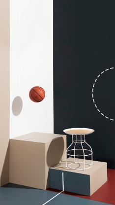 篮球 家居 运动 创意摄影