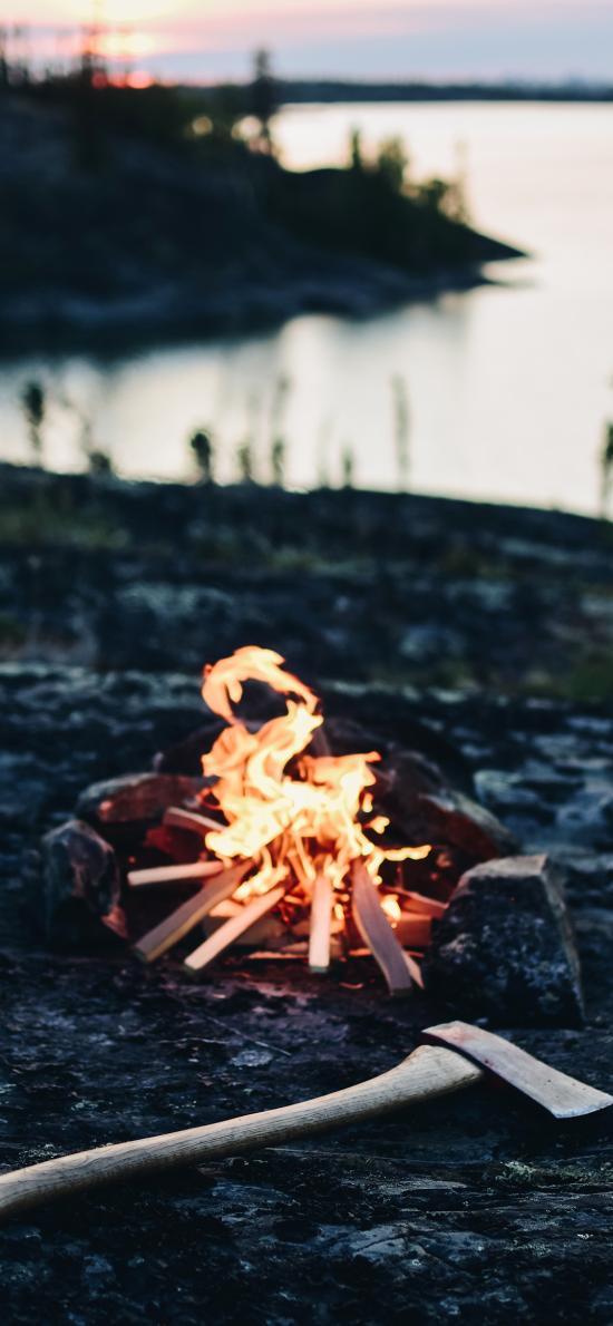篝火 其它 户外 斧头 野炊