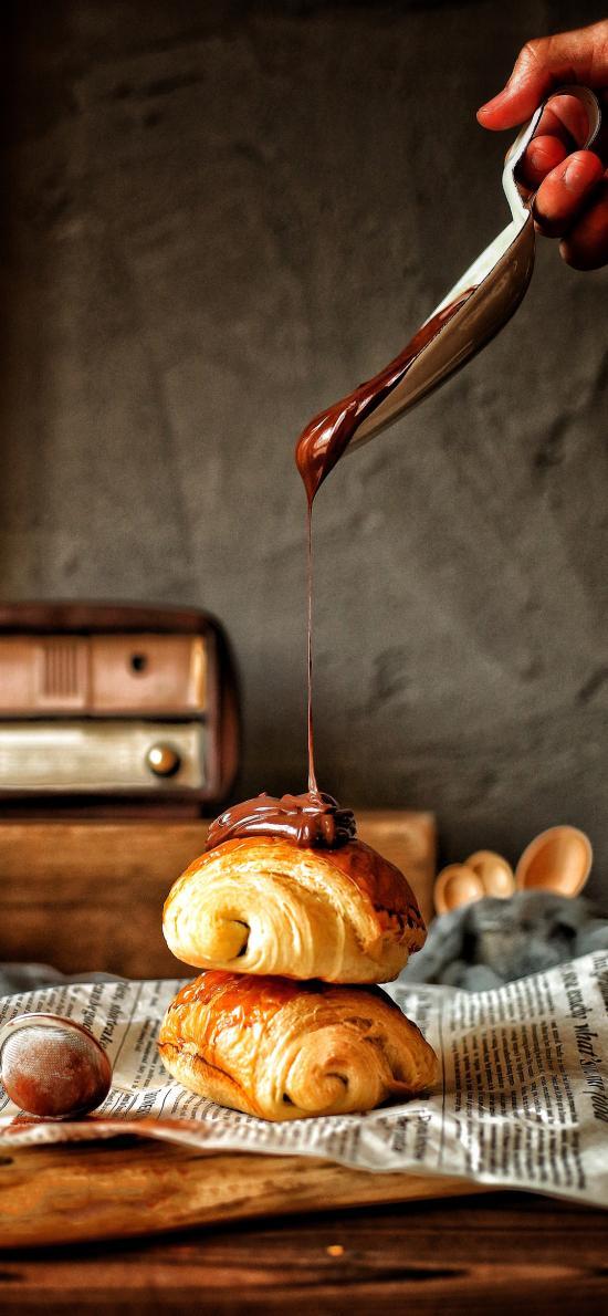 面包 巧克力酱 烘焙 糕点