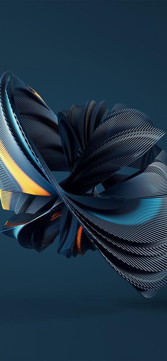 空间 科技 立体 构成 蓝色