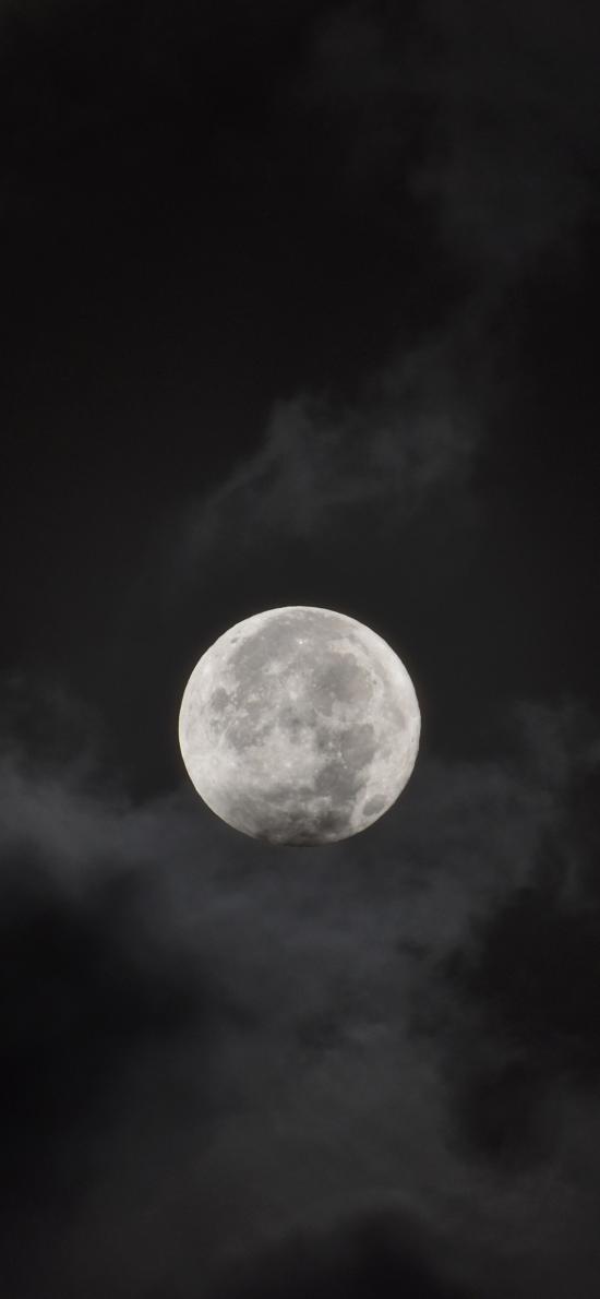 月亮 黑夜 云 天空