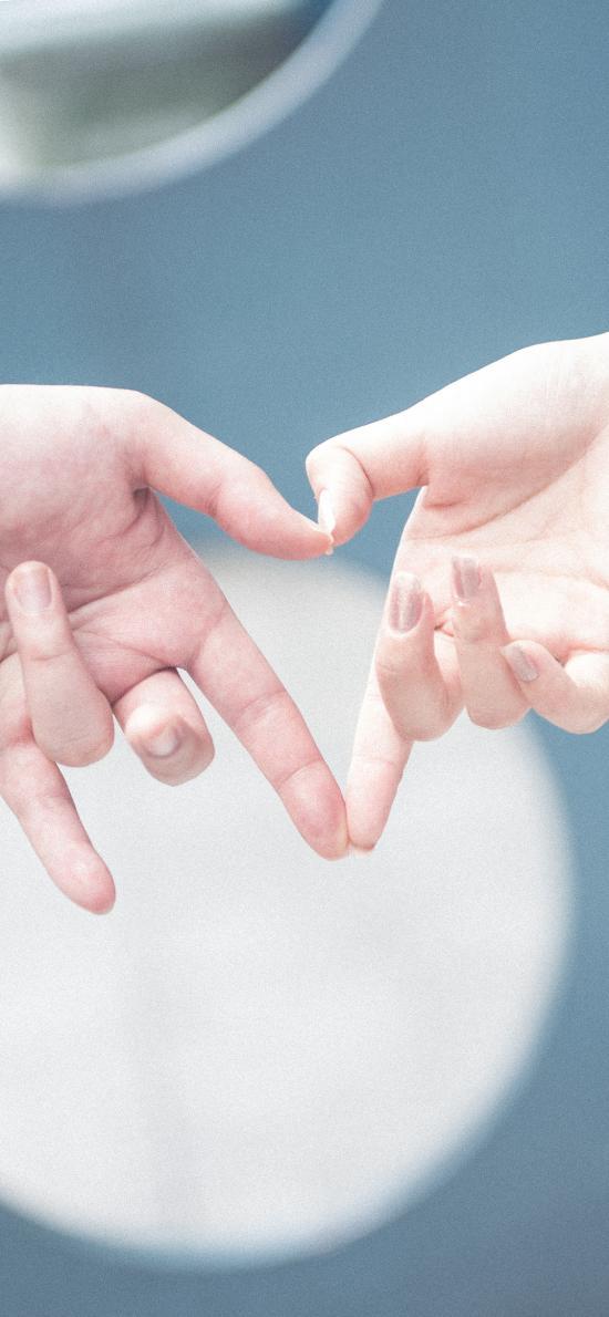 爱心 爱情 情侣 比心 手势