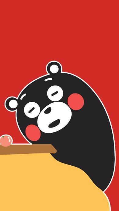熊本熊 红色 日本 可爱 卡通
