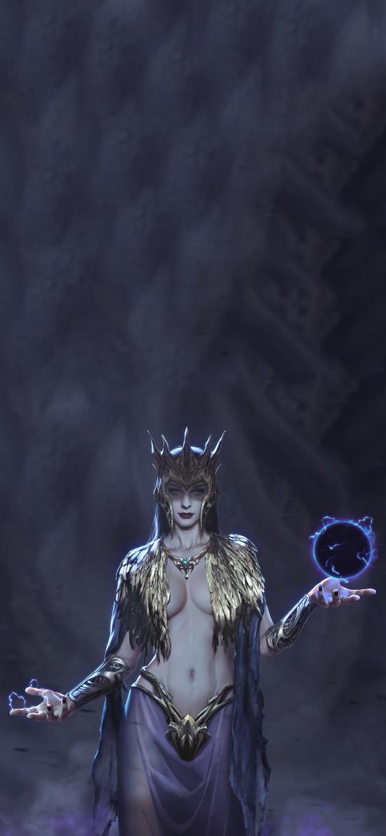 游戏插画 CG原画 女法师 性感