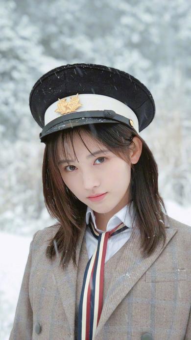 鞠婧祎 歌手 演员 明星 雪 冬季