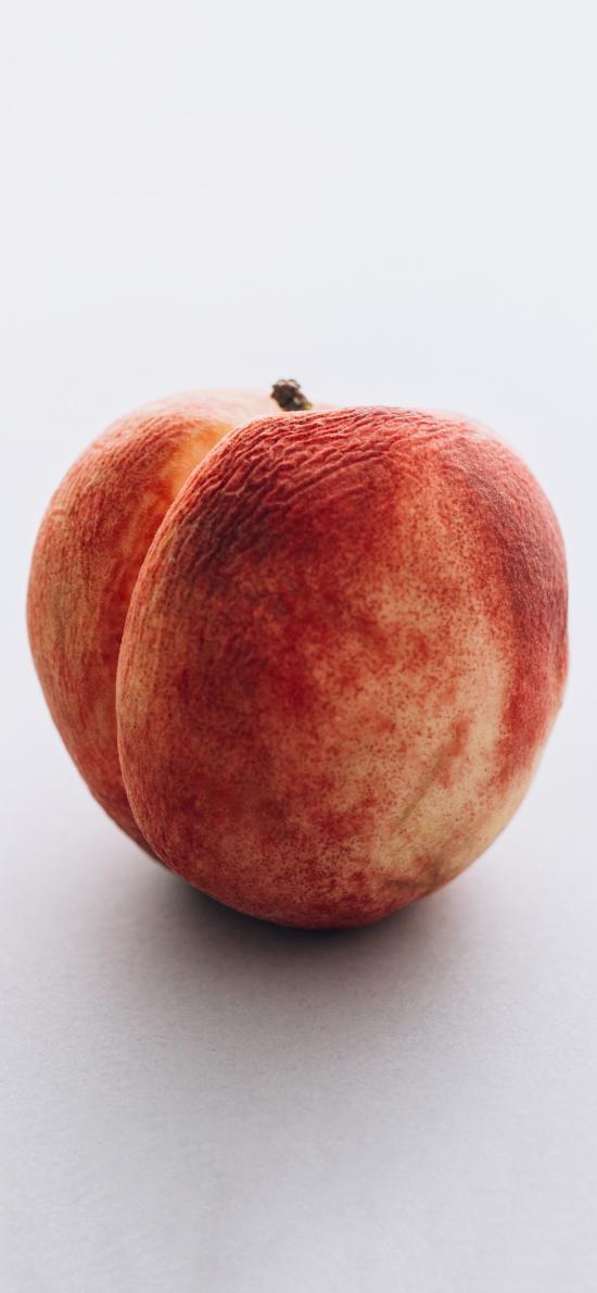 水果 桃子 水蜜桃 皱皮