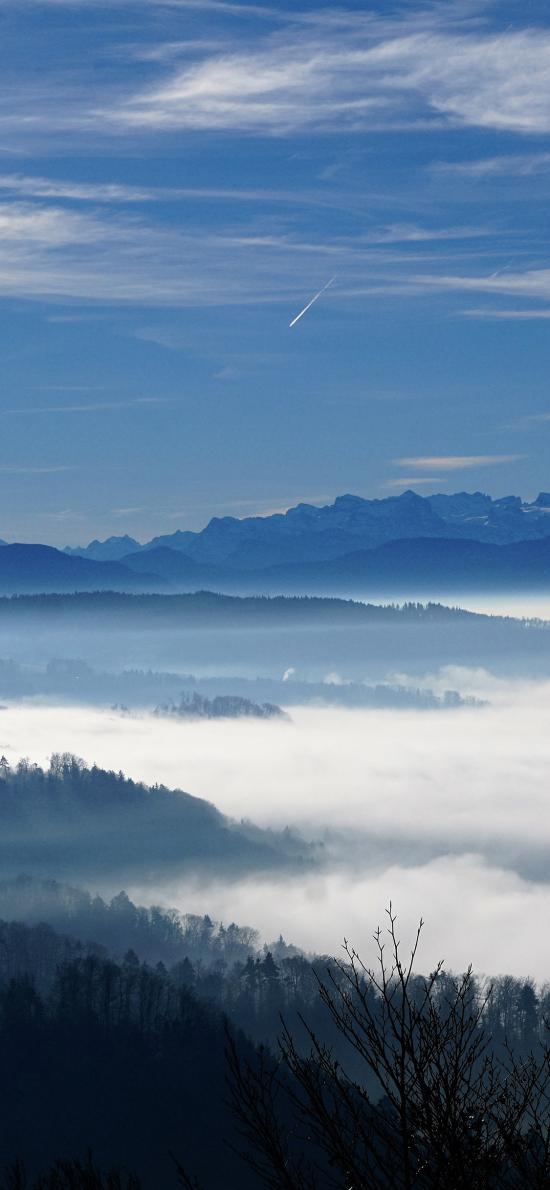 云海 山脉 蓝天白云 大自然 壮观
