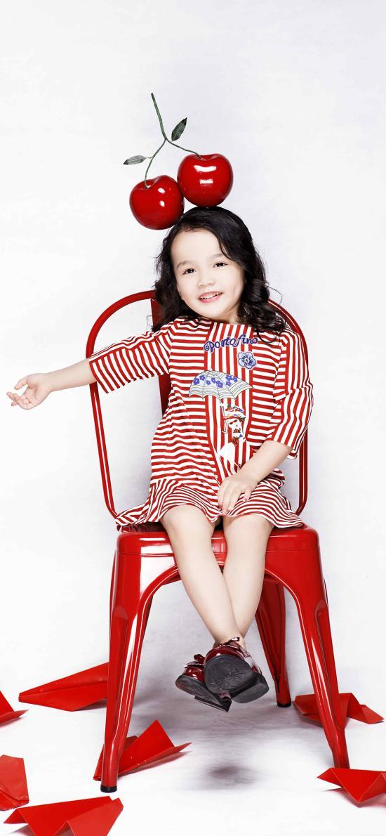 儿童写真 欧美 小女孩 樱桃