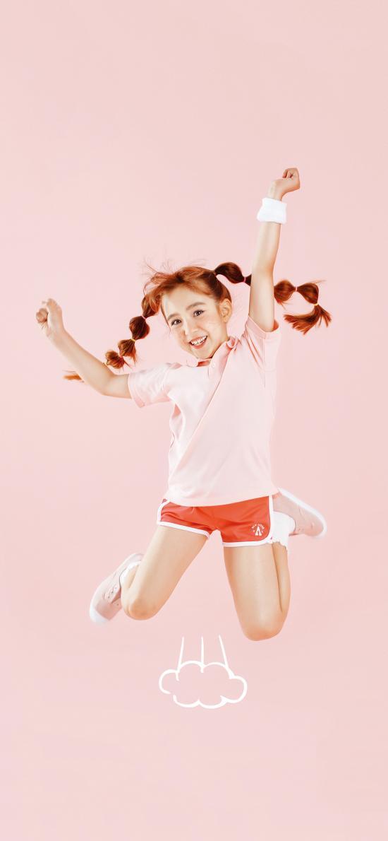 童模 小女孩 跳跃 活力