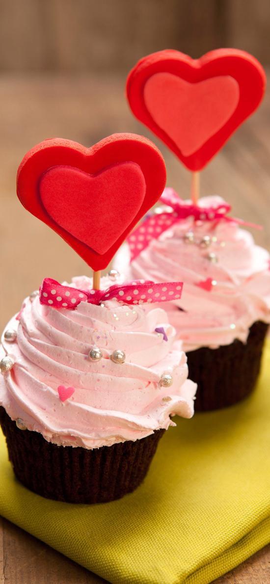 纸杯 爱心 奶油 蛋糕