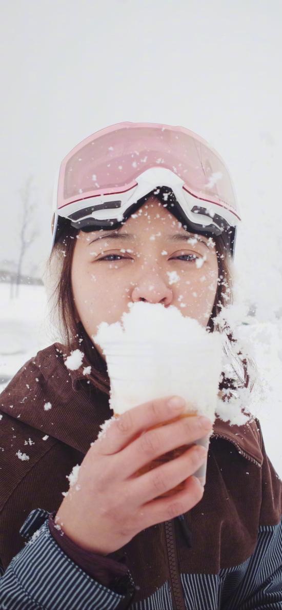 陈意涵 演员 明星 艺人 雪地 冬天