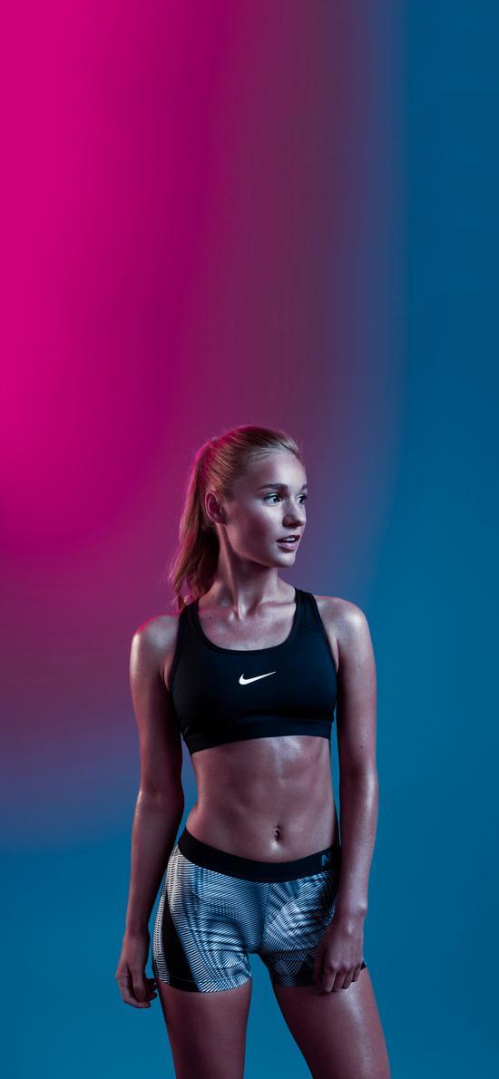 运动 健身 身材 欧美 女孩