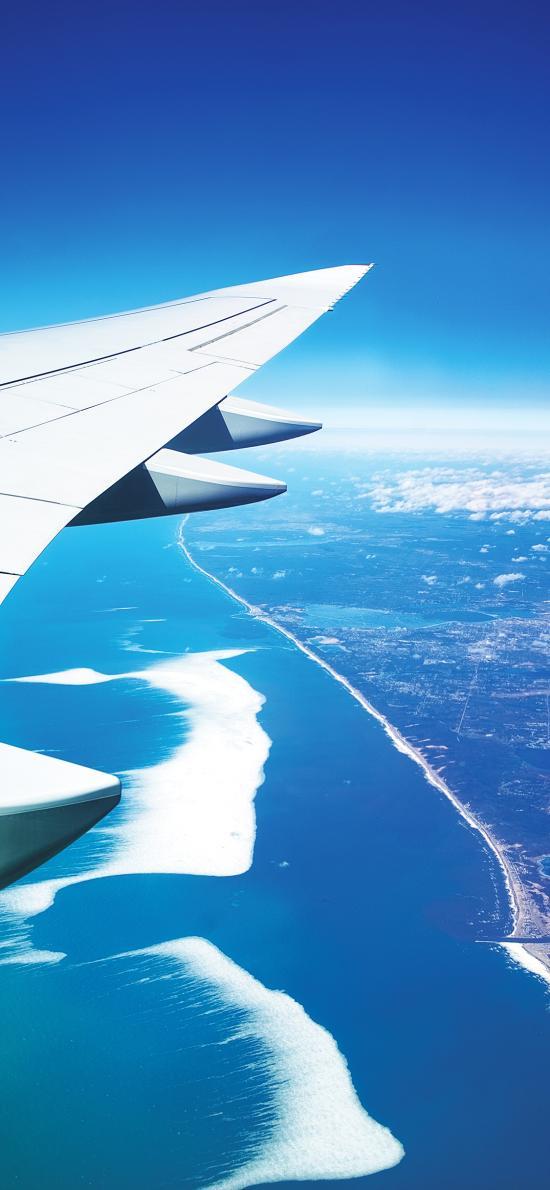 机翼 高空 飞机 蔚蓝