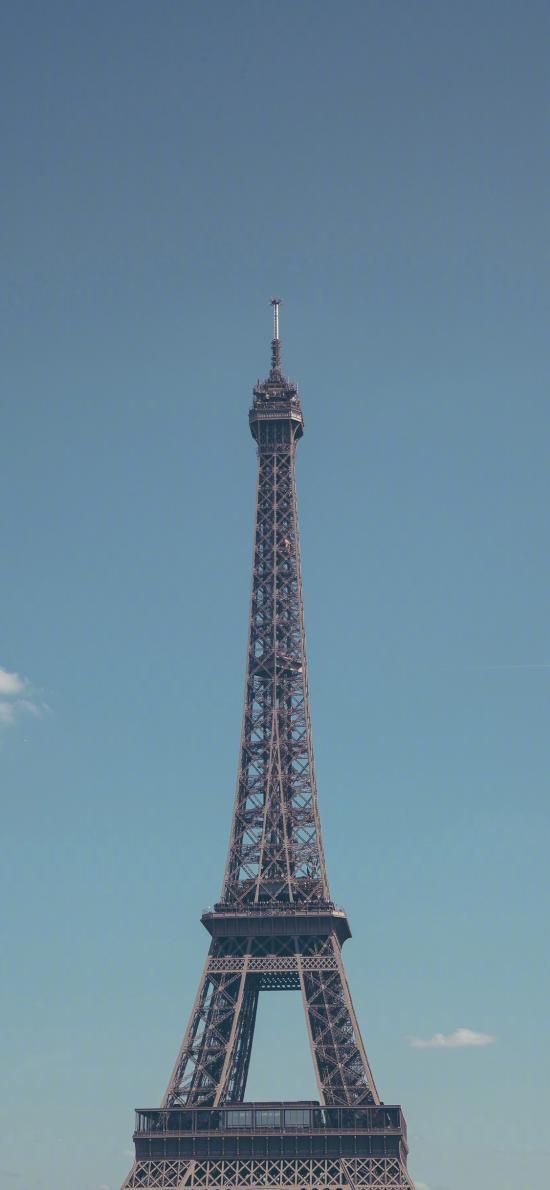埃菲尔铁塔 法国 建筑 蓝色 景点