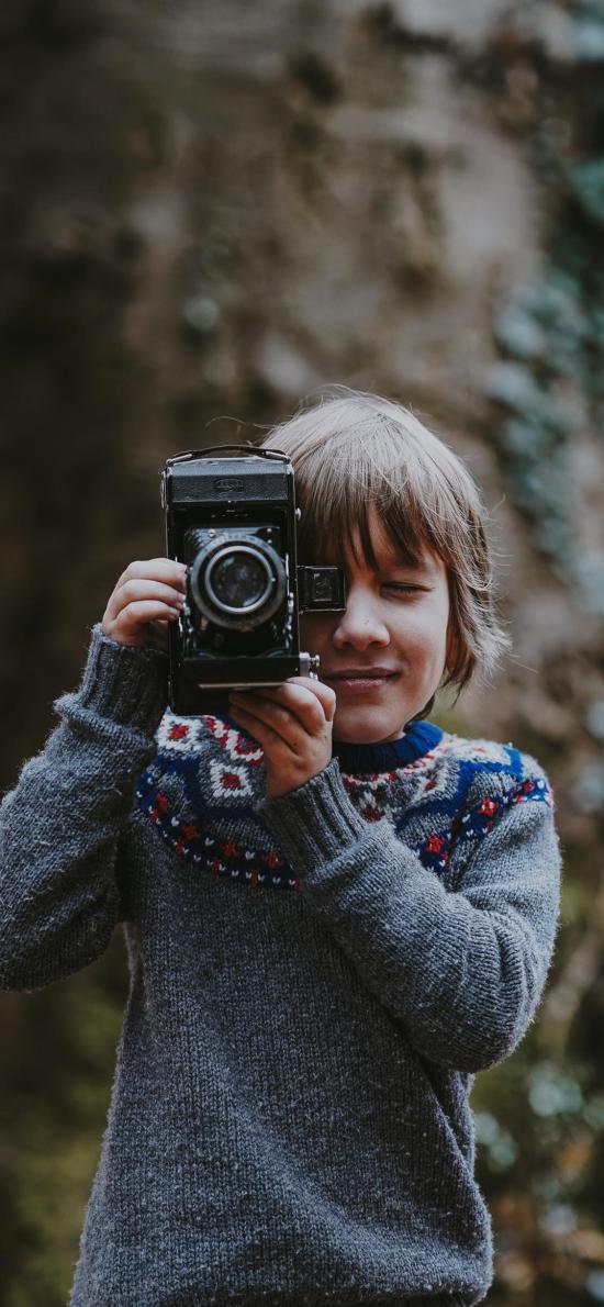 欧美 小男孩 相机 摄影