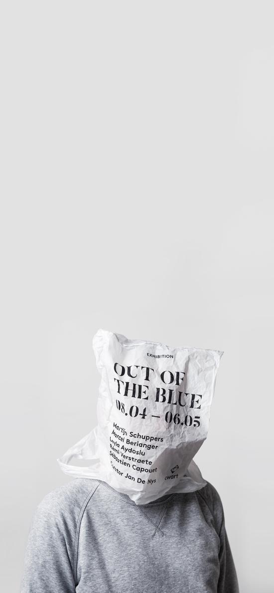 创意拍摄 白色纸袋 套头