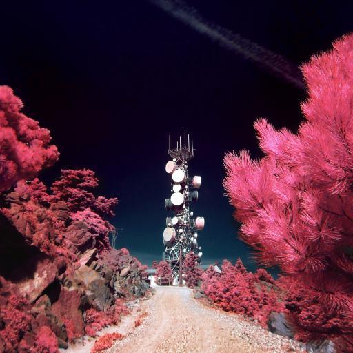 信号塔 植被 滤镜 色彩 铁塔