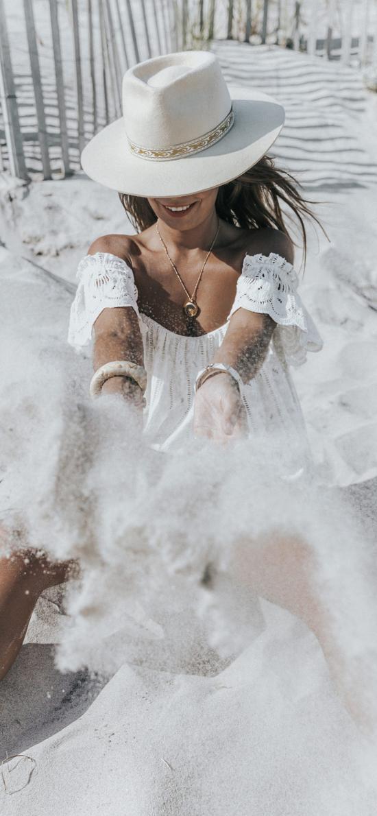 欧美美女 沙滩 度假 休闲