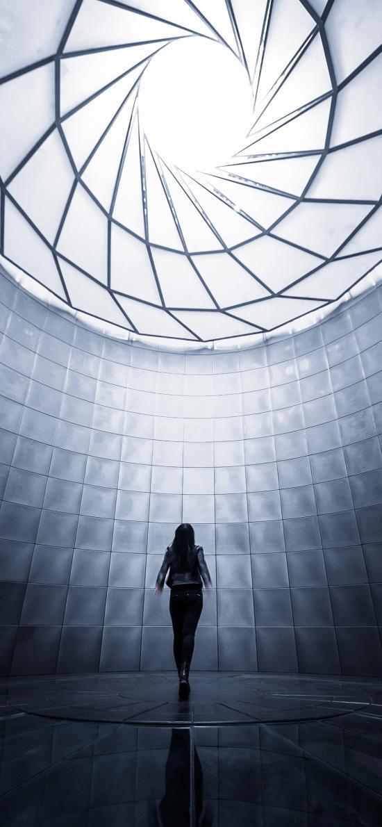 空间摄影 建筑 女孩背影