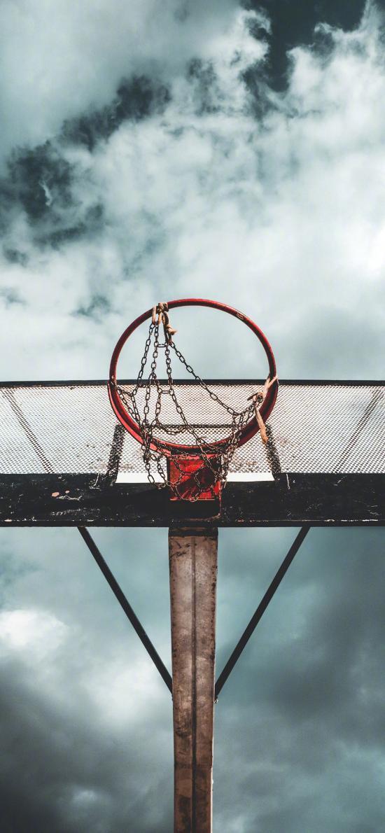 篮球架 球框 运动 天空