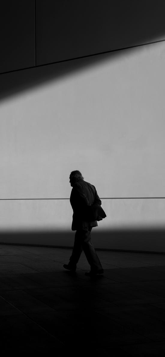 创意摄影 欧美 老人 孤独 行走