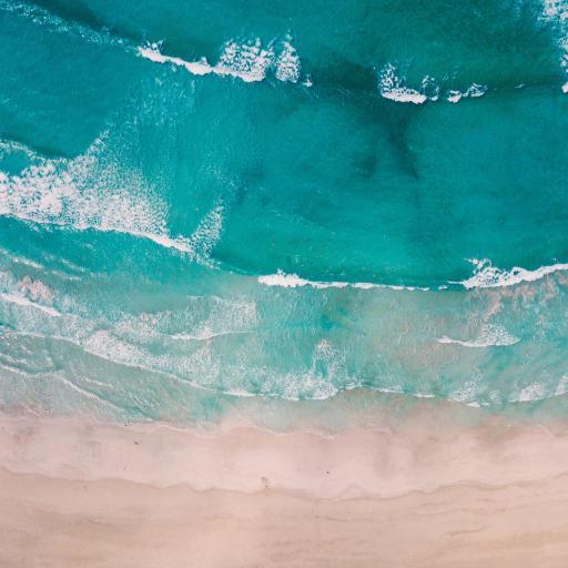 海滩 海水 海浪 俯拍 层叠