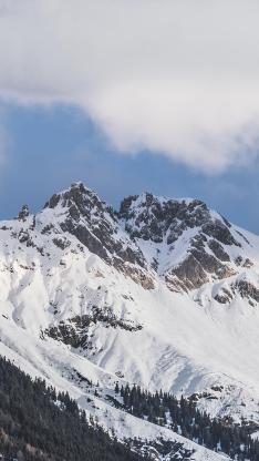雪山 高山 天空 山顶