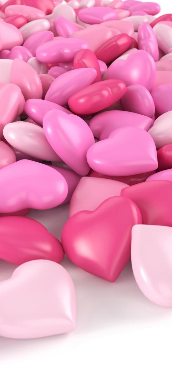 爱心 粉色 模型 立体 心形