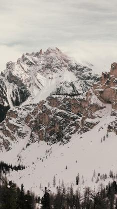 雪山 雪景 山顶 白雪皑皑