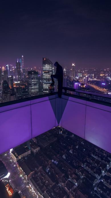 高楼 恐高 建筑 城市 俯视