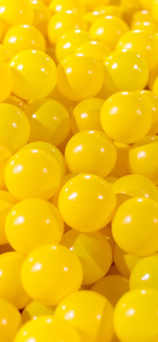 玩具 黄色 球 密集