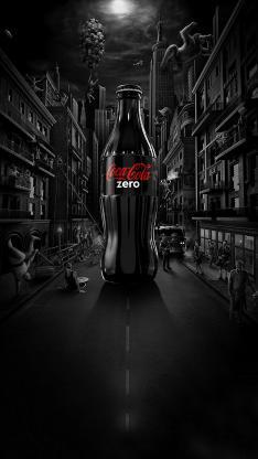 可口可乐 广告 创意 黑白