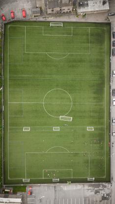 运动场 足球 球场 俯拍